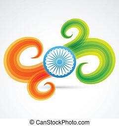 lobogó, indiai, tervezés, kreatív