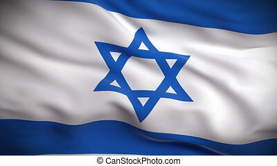 lobogó, izraeli, looped., hd.