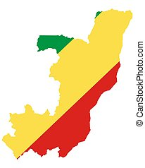 lobogó, kongó, térkép