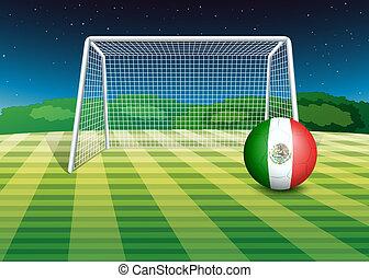 lobogó, labda, mexikó