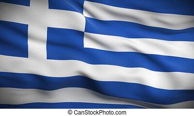 lobogó, looped., hd., görög