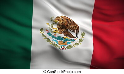 lobogó, looped., hd., mexikói
