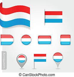 lobogó, luxemburg, ikon