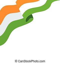 lobogó, nemzeti, háttér, india lobogó, fehér