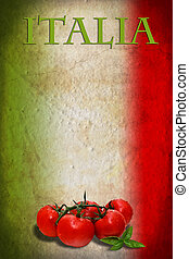 lobogó, paradicsom, olasz
