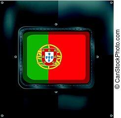 lobogó, portugália, metalic, háttér