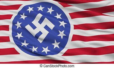 lobogó, seamless, amerikai, köztársaság, új, closeup, bukfenc