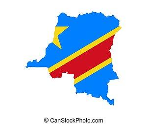 lobogó, térkép, kongó
