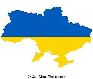 lobogó, ukrajna, térkép