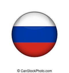 lobogó, vektor, button., oroszország