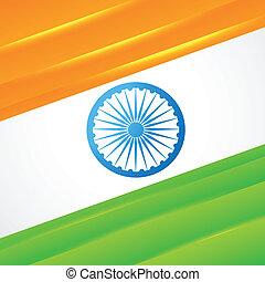 lobogó, vektor, tervezés, indiai