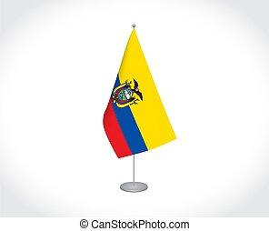 lobogó, white háttér, ecuador