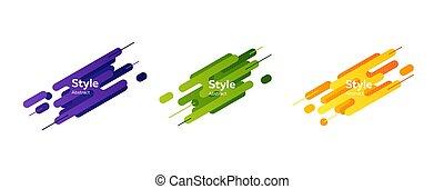 loccsanás, alakzat, kék, modern, narancs, állhatatos, zöld, elvont