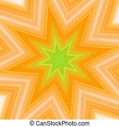 loccsanás, csillag, yellow-green