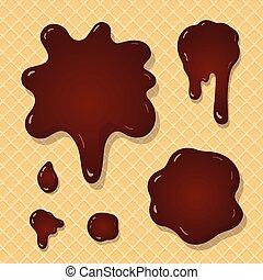 loccsanás, csokoládé, háttér