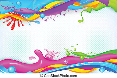 loccsanás, tapéta, színes, holi