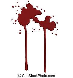 loccsanás, -, vér, render, 3
