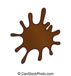 loccsanás, vektor, ábra, csokoládé