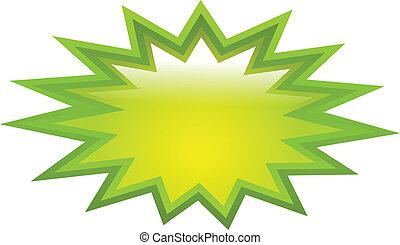 loccsanás, zöld, ikon