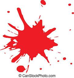 loccsan, vagy, vér, piros, tinta