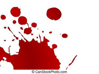 locsogás, vér
