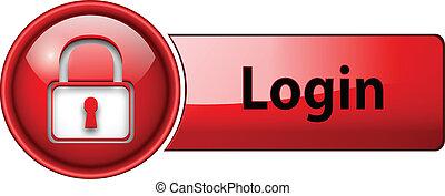 login, button., ikon