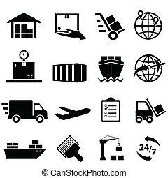 logisztika, hajózás, ikonok