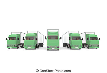 logisztika, series., csillék, rész, raktárépület, green.