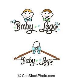 logo., ábra, vektor, gyerekek