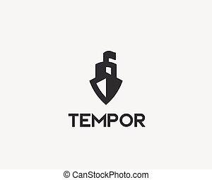 logotype., kreatív, vektor, jel, hajó, csónakázik, ikon