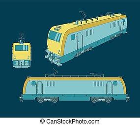 lokomotív, elektromos, ábra