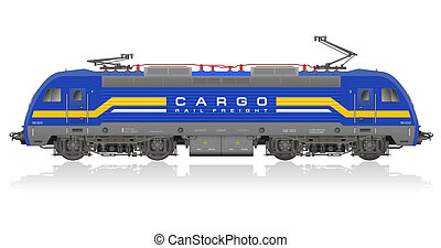 lokomotív, elektromos blue