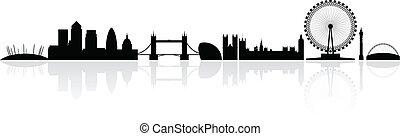 london, égvonal árnyalak