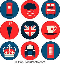 london, gyűjtés, ikonok