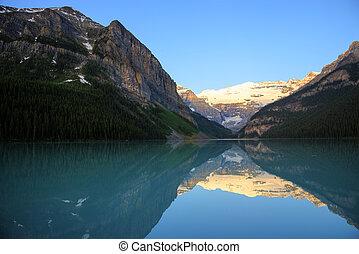 louise, nemzeti park, tó, banff