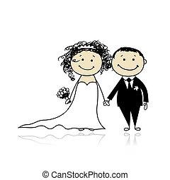 lovász, -e, esküvő, -, ünnepély, együtt, tervezés, menyasszony