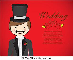 lovász, ruha, esküvő
