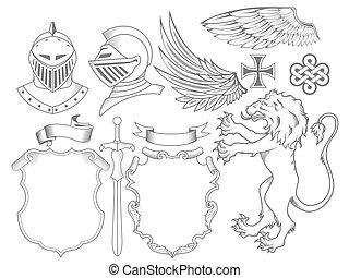lovag, címertani, állhatatos, alapismeretek