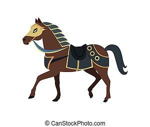 lovag, dél, ló, háború