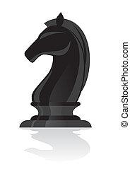 lovag, fekete, sakkjáték