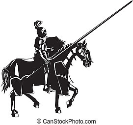 lovag, középkori, lóháton