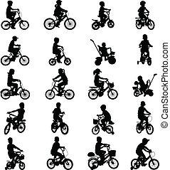 lovaglás, bicycles, gyerekek
