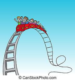 lovagol, rollercoaster