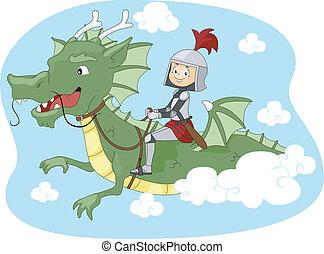 lovagol, sárkány