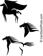 lovak, emblémák, fekete