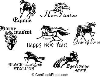 lovak, fekete, szerencsetárgy