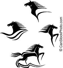 lovak, jelkép, fekete