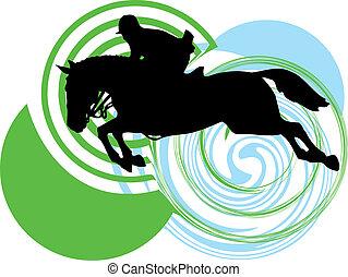 lovak, silhouettes., elvont, vektor