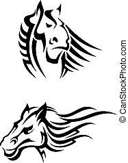 lovak, törzsi, szerencsetárgy