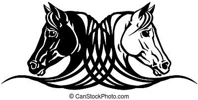 lovak, tetovál, gazdag koncentrátum